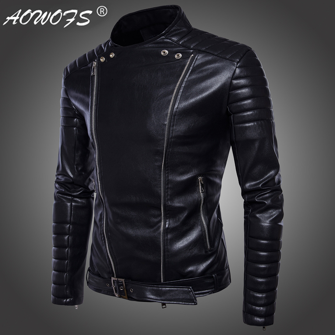 2019 European Code Men 39 s Motorcycle Leather Clothing High end Kali Motorcycle Jacket Men 39 s Fashion Personality Jacket in Faux Leather Coats from Men 39 s Clothing