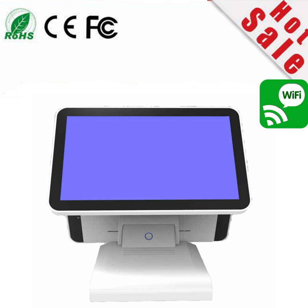 New Stock I7 CPU  8G Double 128G Ssd 15.6 Inch Capacitive Touch Screen All In One POS Terminal With MSR Card Reader