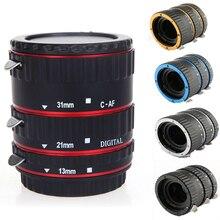 Foleto Anillo de extensión Macro de enfoque automático Aleación de plástico electrónica AF TTL Tube Closeup set para cámara DSLR Canon 1200d 7d 5dII 60d