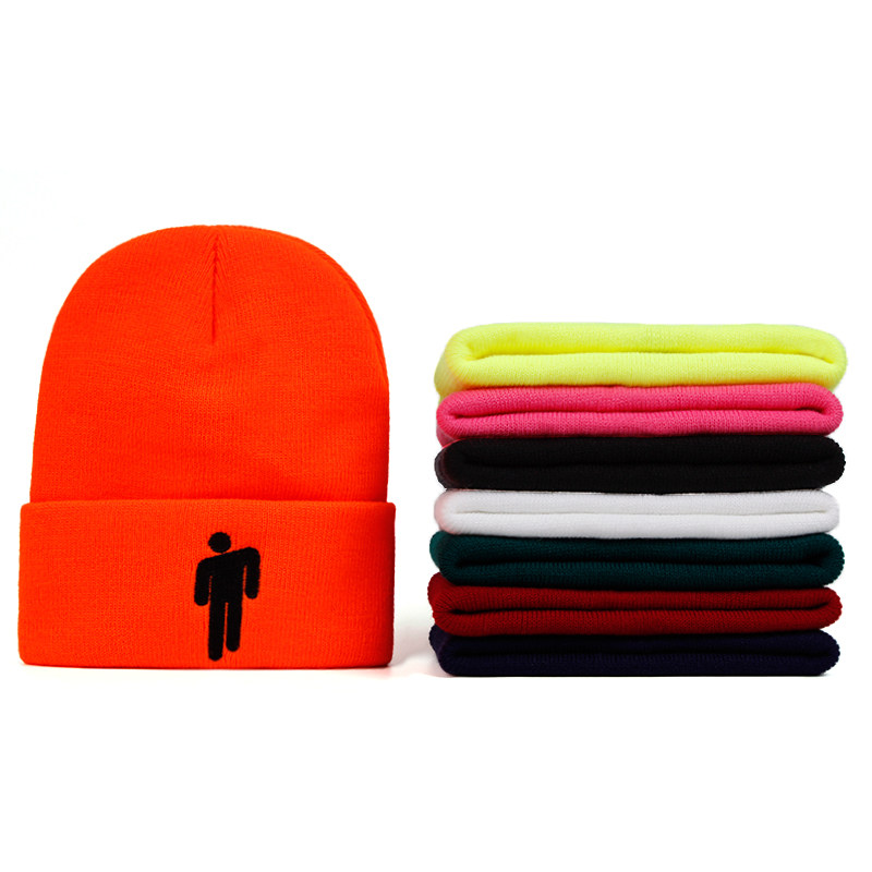 8 Colours Billie Eilish   Beanie   Knitted Winter Hat Solid Hip-hop   Skullies   Knitted Hat Cap Costume Accessory Gifts Warm Winter