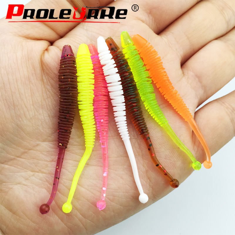 10pcs Worm Soft Lure 6cm 0.6g Fishing Pesca Fish Peche Wobblers Tackle Leurre Souple Isca Artificial Soft Baits Carp lures трикси игрушка для собаки осел ткань плюш 55 см page 3