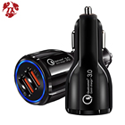 YX Car USB Charger Fast Charge 3.0 2.0 Mobile Phone Charger 2 Port USB Fast Car Charger for iPhone Samsung tablet Car-Charger