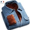 Langmeng 2015 New Arrival Winter Warm 100% Cotton Vintage Corduroy Velvet Dress Shirt Casual Shirt Men Slim Fit Camisa Masculina