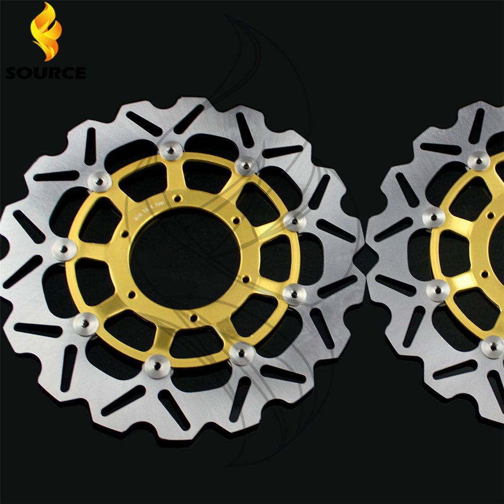 motorcycle parts  Front Brake Disc Rotor For Honda CBR600RR 2003 2004 2005 2006 2007 2008 2009 2010 2011 2012 2013 2014 aftermarket free shipping motorcycle parts black chain guards cover for honda 2004 2005 2006 2007 cbr 1000rr