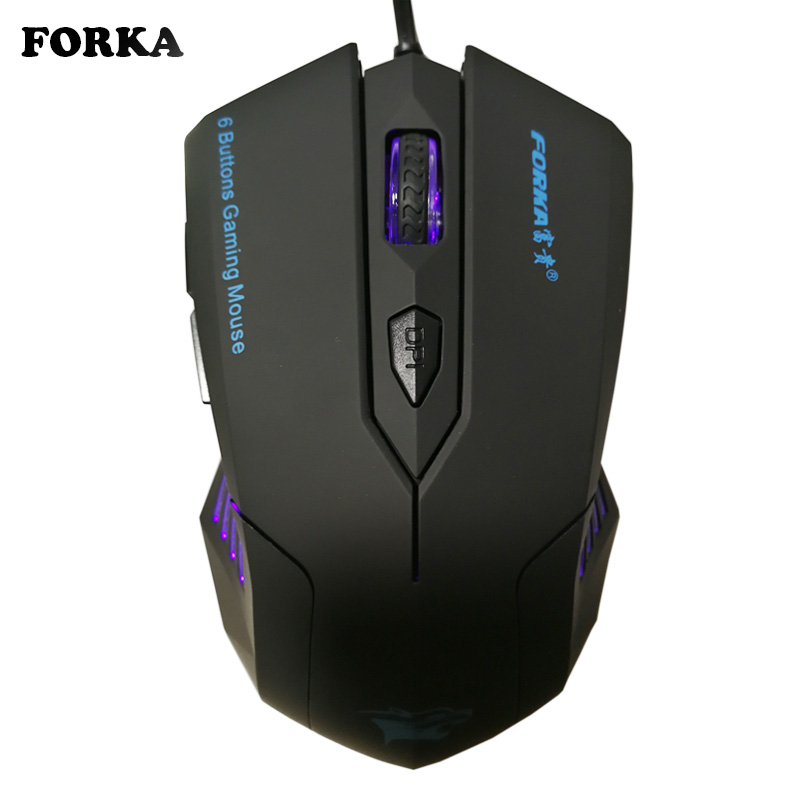 Silent Frosted Ergonomics 2400dpi Justering USB 6D Wired Optisk Dator Gaming Mus Möss för Dator PC Laptop för Dota 2