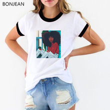 Cool Melanin girl printed tshirt femme African black design streetwear 90s vogue t shirt tops female hipster t-shirt tees