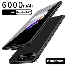 6000mAh Power Bank Battery Charger Case For Oneplus 5 5T External Backup Charging One Plus