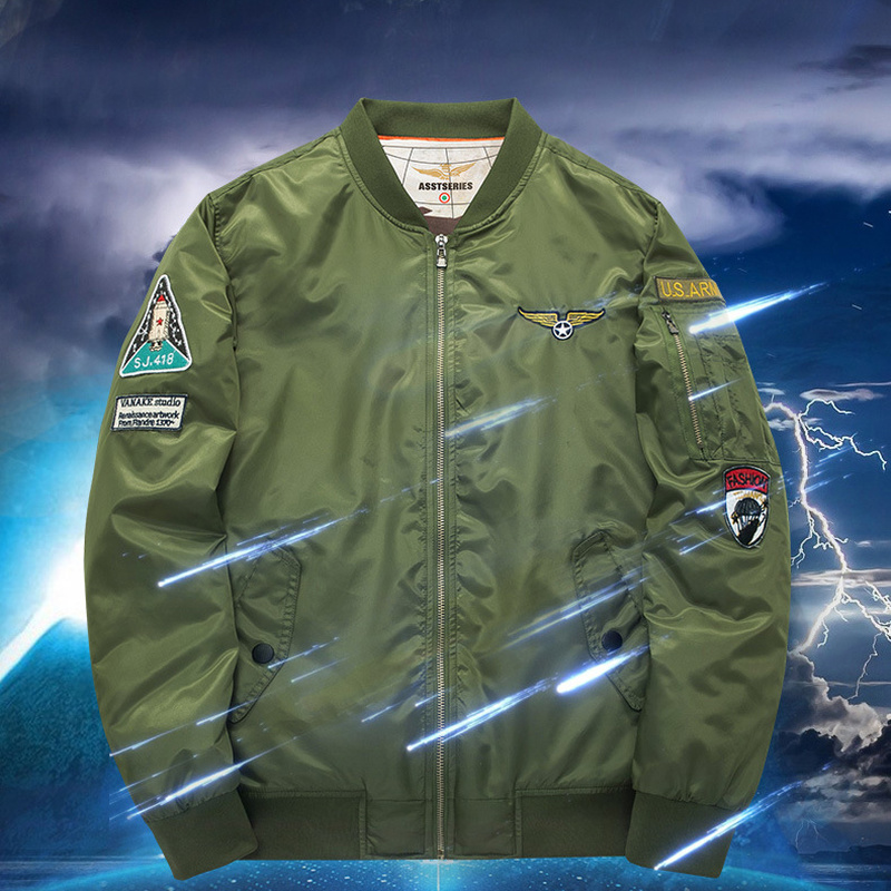 2109 automne et hiver homme grande taille coton manteau sport loisirs col veste force aérienne N°1 MA01 pilote uniforme de baseball