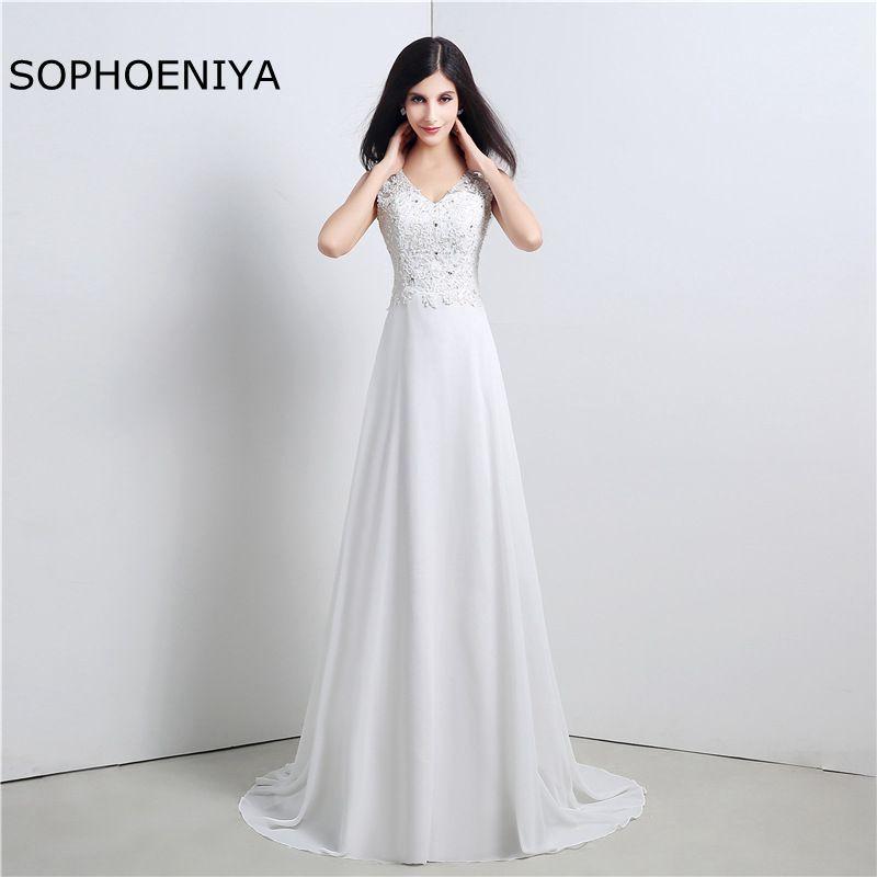 New Arrival A Line White Cheap Wedding Dress 2019 Gelinlik