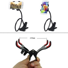 Double Clip Phone Holder Lazy Bracket Desk Bed Holder Stand Mount Phone Holder Long Arm Gooseneck for xiaomi redmi note 3 pro
