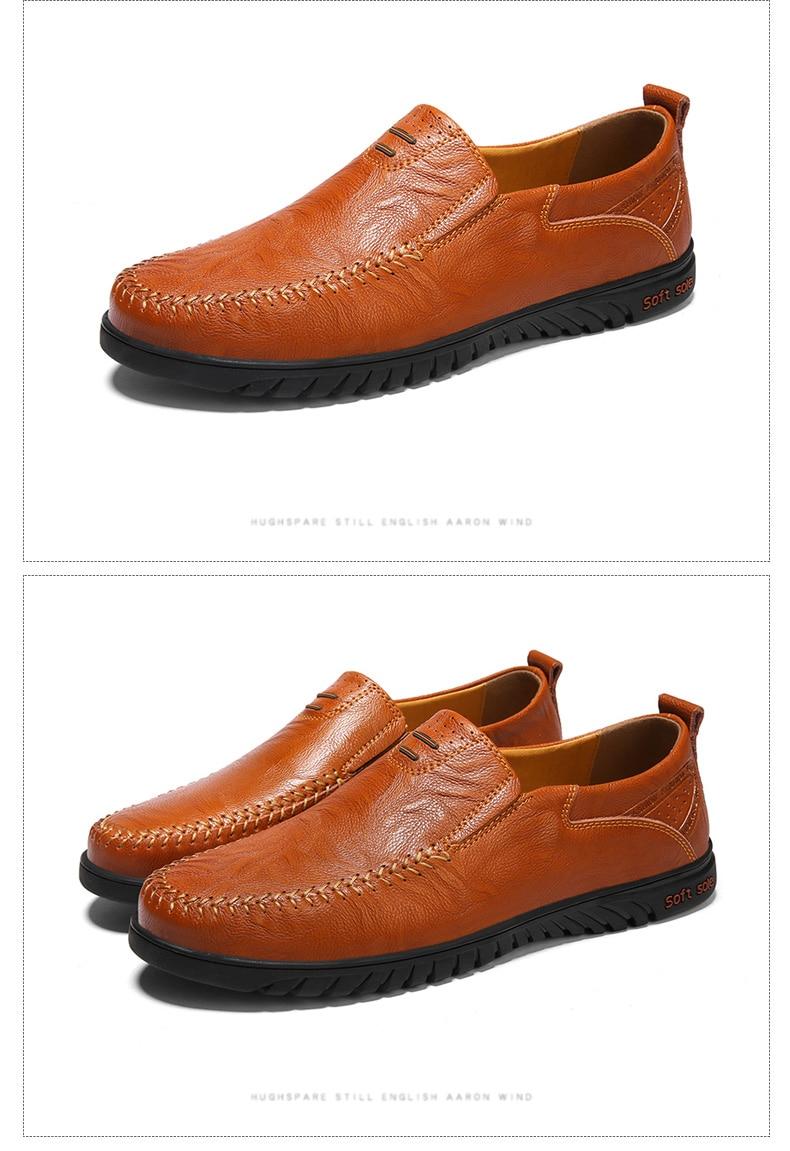 HTB1eHI2J29TBuNjy0Fcq6zeiFXaL DEKABR Men Shoes Genuine leather Comfortable Men Casual Shoes Footwear Chaussures Flats Men Slip On Lazy Shoes Zapatos Hombre