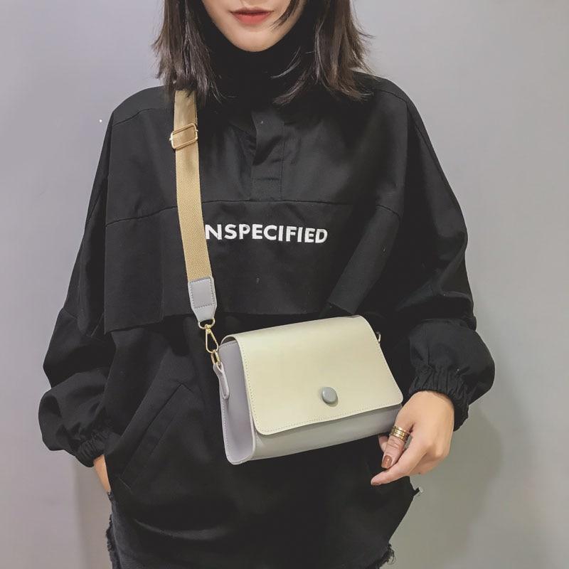 e96ad55af51 Hot Sale New Women PU Leather Casual Mini Shoulder Bag Girls Wide ...