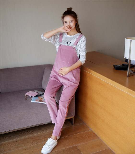 Clothes for pregnant Pants Maternity Overalls Corduroy Trousers Women Trousers Pants for pregnant women Maternity Clothes 2017