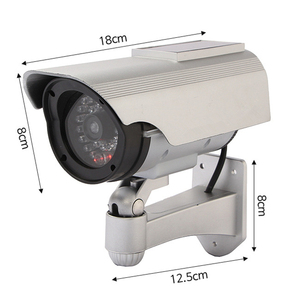 Image 4 - Solar Powered Outdoor CCTV Home Security Decoy Fake Dummy Camera With Flashing Infrared LED Lights Video Surveillance Cameras