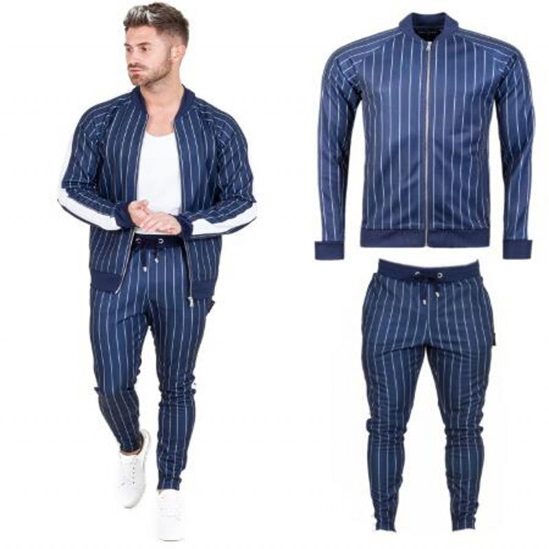 2019 New Men's Autumn Hoodies Tracksuit Set Male Sweatshirt Sweatpants Multi-pocket Fashion Trousers High Street Jackets Sets