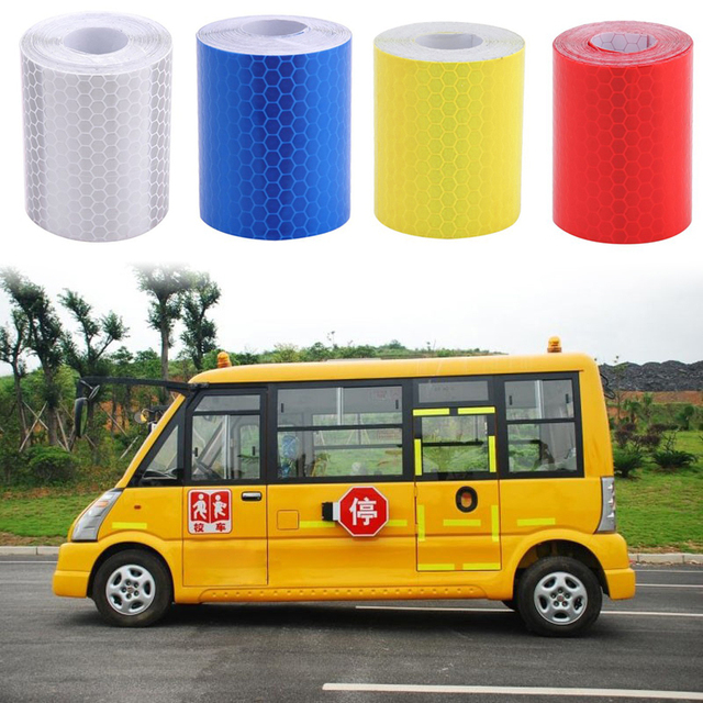 100x5cm Car Reflective Strip Stickers Road Warning Strip-style Decoration Film Safe Motorcycle Baby Car Reflect Road Safety Tape
