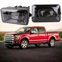 2 Pieces Auxiliary Lamp For 2015 2016 2017 2018 Ford F150 Projector LED Fog Light Replacement Clear Lens 5500K For Ford F150