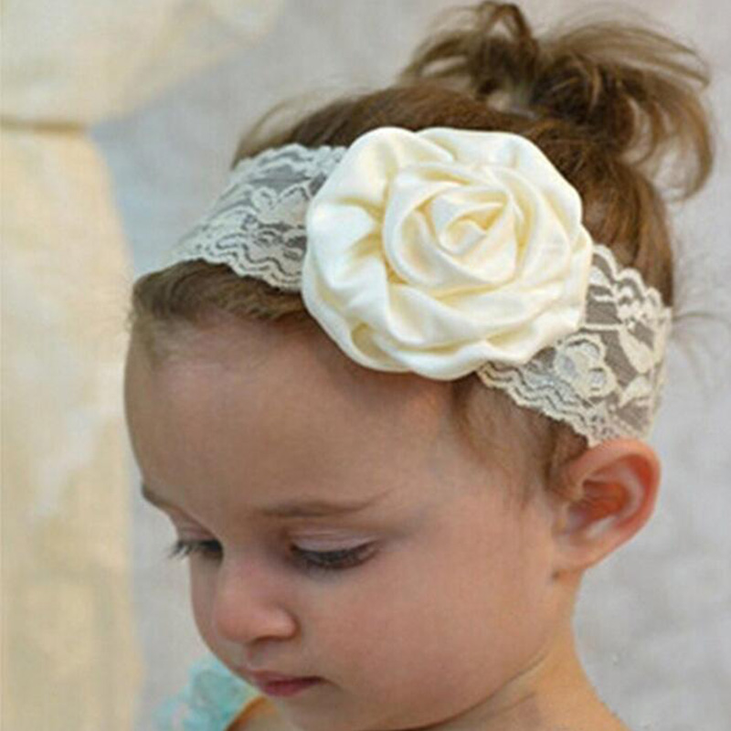 2017 Lovely Headband Girls Flower Lace Elastic Hair Bands Newborn Kids Headwrap Headwear Hair Accessories new novelty princess hair accessories elsa anna elastic hair bands flower hair rope lovely headwear party gifts for girls