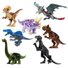 Single sale Jurassic World 2 Park Dinosaurs Indoraptor Pterosauria Dino Building Blocks Figures DIY Toys Compatible With Lego(China)