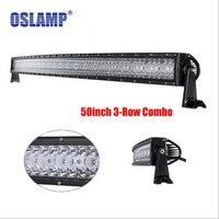 Oslamp 50 водить автомобиль, работать света бар 3 ряд 576 Вт Offroad вождения комбо лучи Fit пикап тягач внедорожник ATV 4x4 Универсал