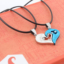 LNRRABC Fashion 1 set Unisex Women Men I Love You Heart Shape Pendant Necklace For Lovers Couples Jewelry Gift(China)