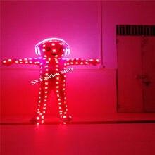 AS89 luz Colorida RGB LEVOU trajes cabeça grande da boneca partycatwalk  ballroom dance show dj dicso stage veste roupas de palco. 6c1d2be9869