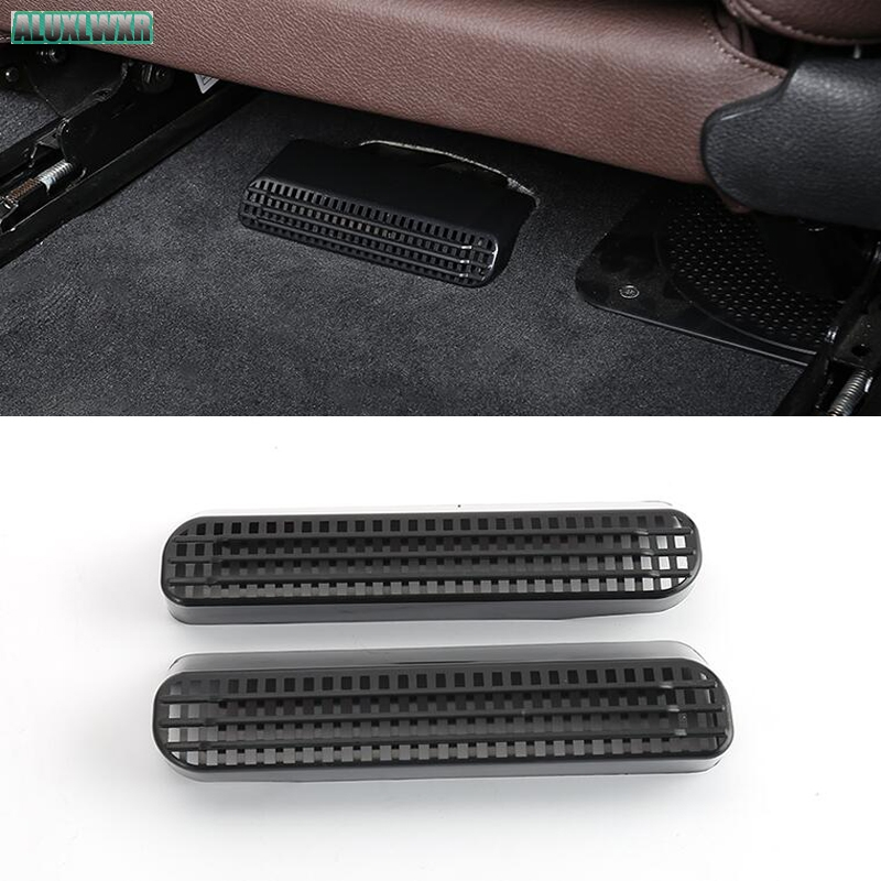 car-styling Seat AC Heat Floor Air Conditioner Duct Vent Outlet Grille Cover For <font><b>BMW</b></font> 3 Series f30 <font><b>f31</b></font> f32 car Accessories image