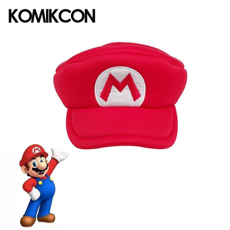 Detalle Comentarios Preguntas sobre Anime sombreros Super Mario Bros Cosplay  disfraces accesorios rojo clásico tapas de Halloween regalos de Navidad  para ... b154f2f149a