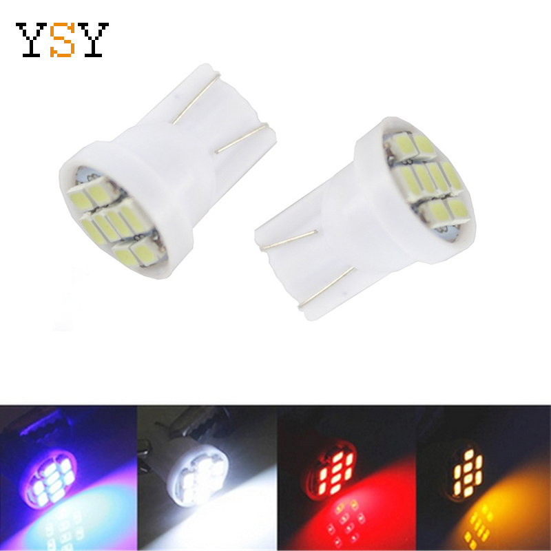 1000pcs White Led T10 8 Smd 1206 8leds 8SMD Car Interior Light 194 168 192 W5W 3020 Auto Wedge Lighting DC 12V