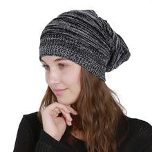 1pc Men Women Unisex Spring Autumn Knited Hat Cap Mesh Pleated Acrylic Cap Stylish Manual Velvet