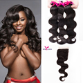 7a Indian Virgin Hair With Closure 3 Bundles Lace Closure Indian Body Wave Soft Unprocessed Virgin Human Hair Weave With Closure