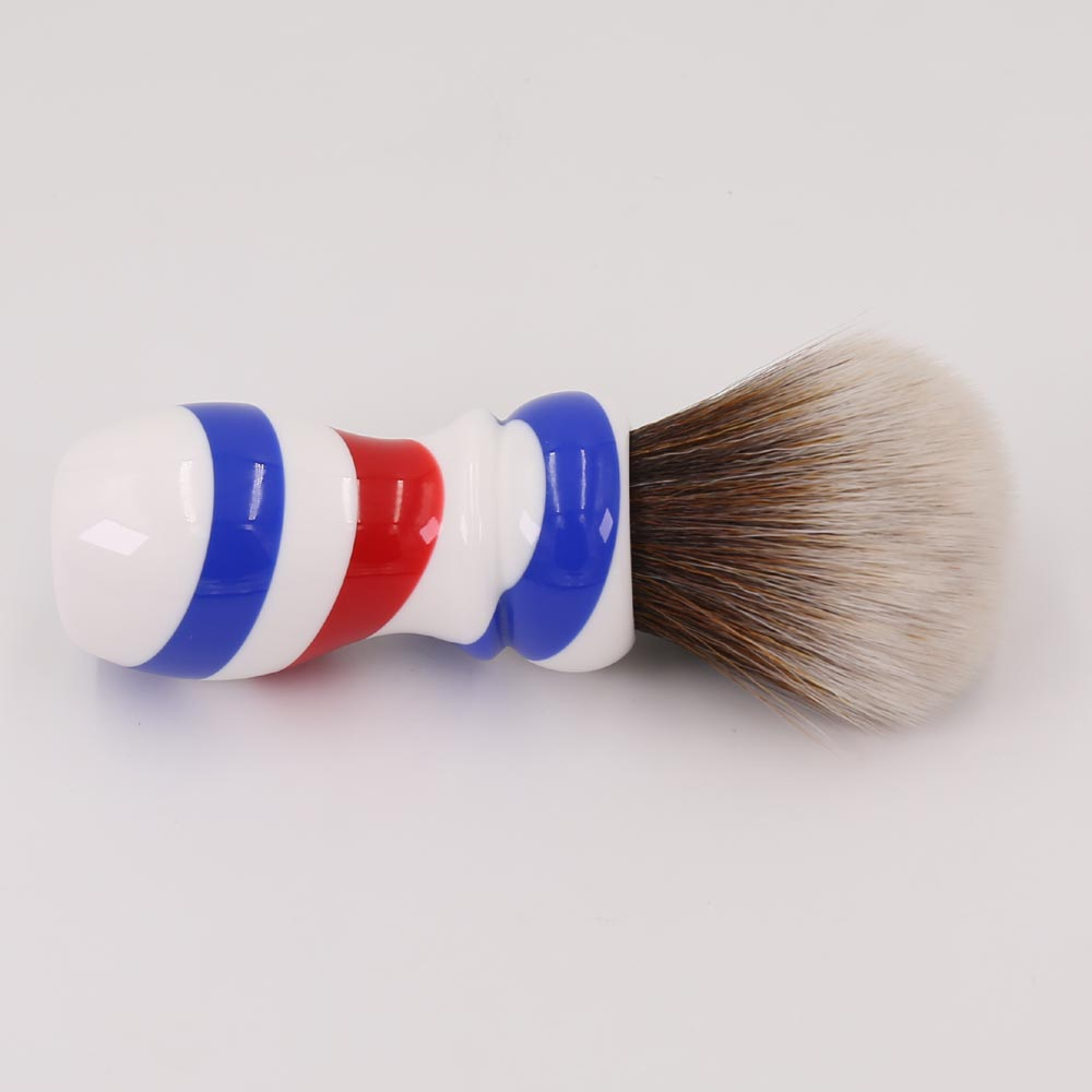 Yaqi New Barber Pole Style 24mm Mew Brown Synthetic Knot Shaving - Barbering og hårfjerning - Foto 3