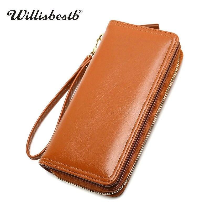 2018 New Leather Purse Female Wallets Women Luxury Brand Long Hasp Phone Pocket