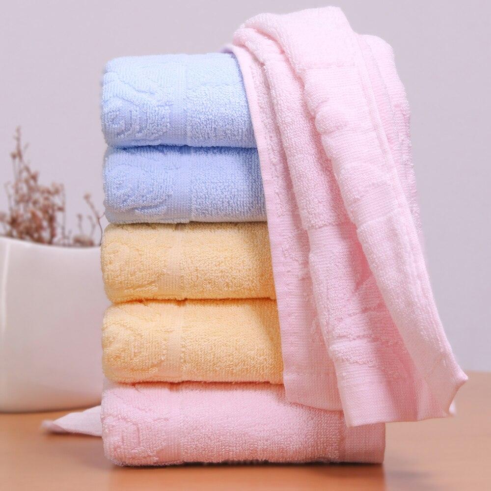 ⃝Plaine teints 3 couleurs visage serviette super doux machine ...