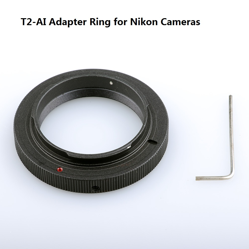 T2-Nikon T Mount Ring Adapter for Nikon AI D750 D7200 D7100 D5500 D5300 D3300 D90 D610