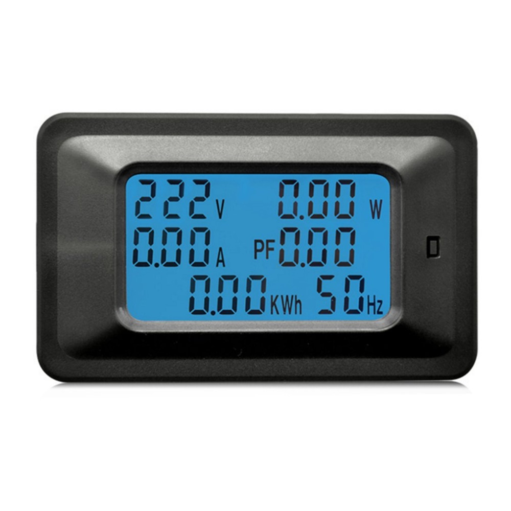 100A AC LCD Digital Panel Power Watt Meter Monitor Voltmeter Ammeter Voltage Current Tester Indicator For Home Appliances