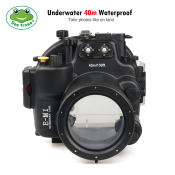 For Olympus Camera E-M1 Housing Underwater Outdoor Scuba Diving Sport Photography Camera Water Waterproof Housing Case Cover seafrogs tg6 60m 195ft underwater diving waterproof housing camera case for olympus tg 6 waterproof camera bags w wet dome port