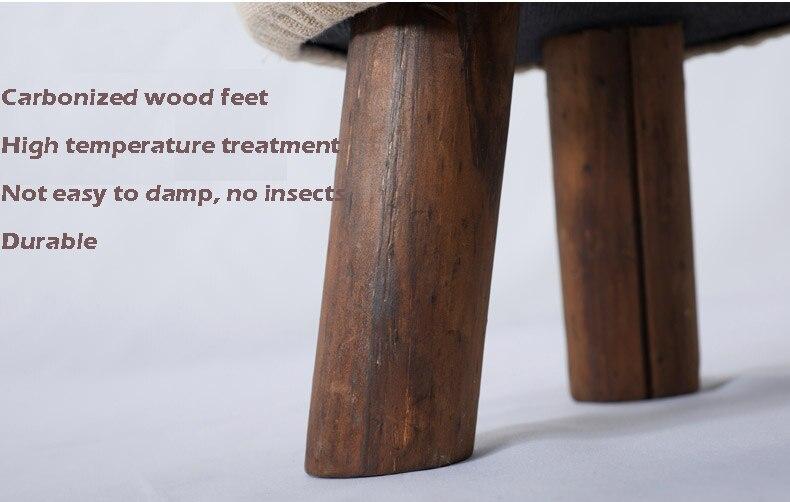Madera Muebles zapatos de moda taburete otomana de madera vestidor ...