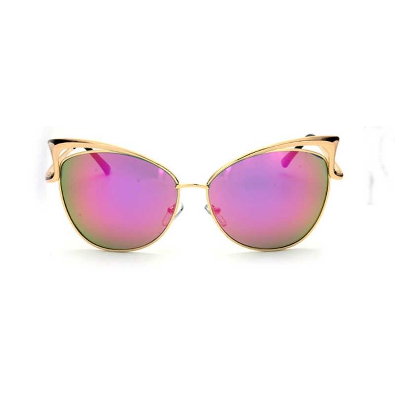6411a5ec4ddf ... DIGUYAO Fashion Metal Frame Sexy Cat Eye Sunglasses for Women Coating  Luxury Brand sun glasses female ...