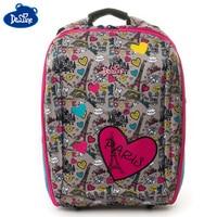 Delune 7 125 Children Backpack For Girls Cartoon Paris Pattern Backpacks Orthopedic School Bags Student Satchel Mochila Infantil