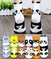 Linda de la mujer animal tigre / gato / del mapache / Panda / oso / vacas calcetines del tobillo del algodón novedad kawaii estilo del verano a estrenar calcetines para mujeres