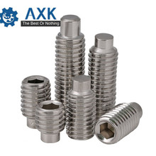DIN915 GB79 M3 M4 M5 M6 M8 M10 M12 A2-70 Authentic Stainless Steel 304 Hex Socket Set Screws Bolt Screw Machine with Dog Point m12 m12 80 100 110 m12x80 100 110 304 stainless steel 304ss car repair screw wedge concrete anchor sleeve expansion bolt