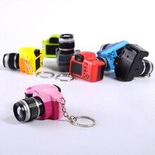 СВЕТОДИОДНЫЙ брелок со светящимся звуком, цветные брелки, новинка, милая игрушечная мини-камера, брелок со вспышкой, светильник и звук, подарок