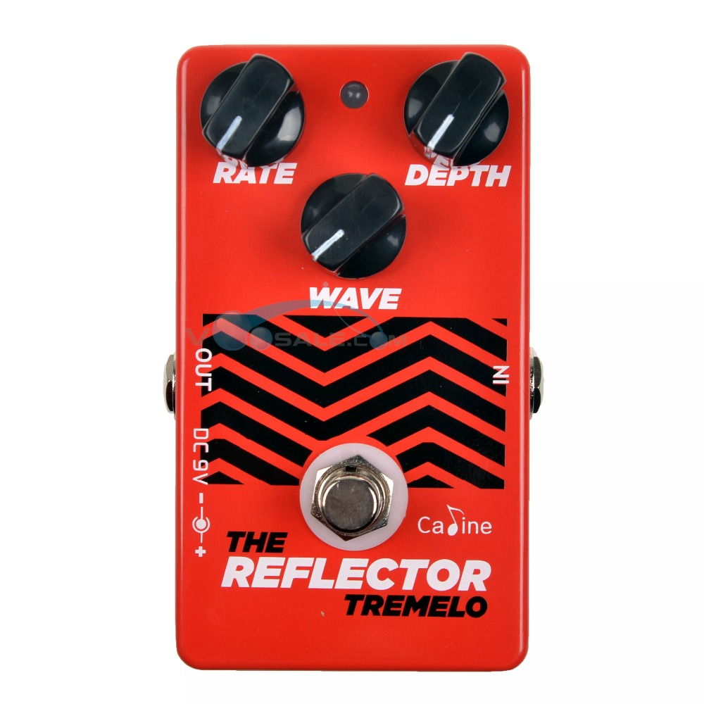 Caline CP-62 The Reflector Tremolo Guitar Pedal Effect 9V Guitar Effects Guitar Accessories Mini Effect Pedals Guitar Parts 50mA
