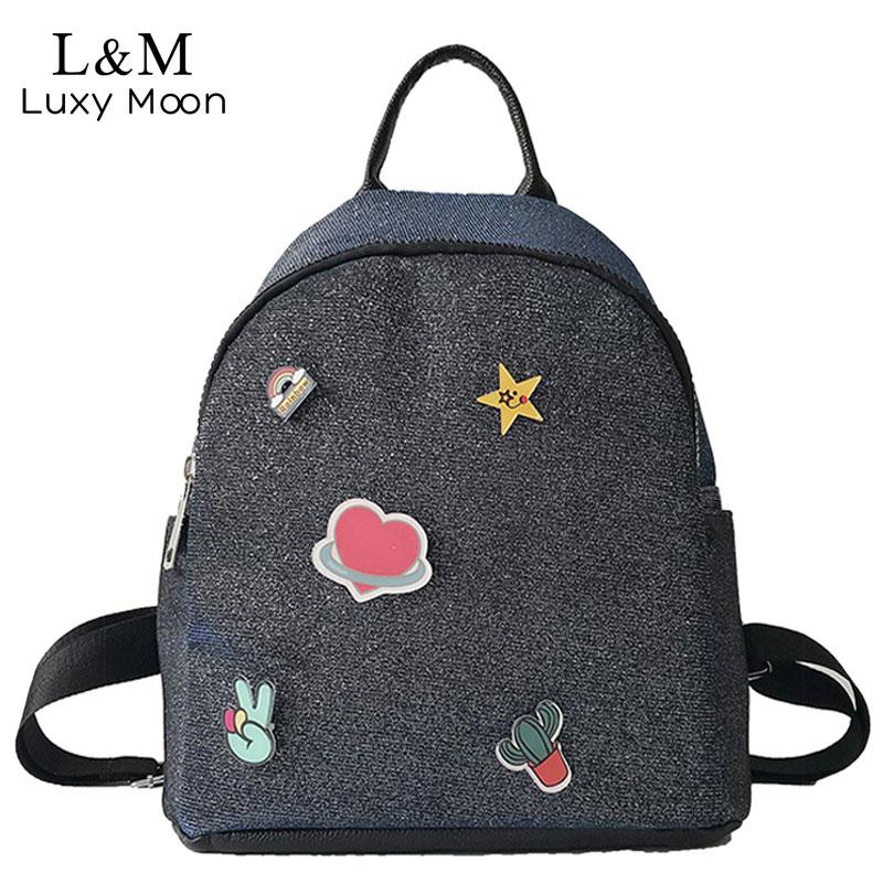 Fashion Glitter Backpack Schoolbag For Teenage Girls Black soft Female  Backpacks Women Bling Rucksack Cute mochila 2019 XA141H