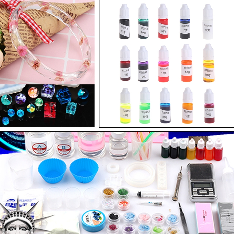 10g Silicone Resin Pigment Liquid Dye Jewelry DIY Craft Art Handmade Accessories in Jewelry Tools Equipments from Jewelry Accessories