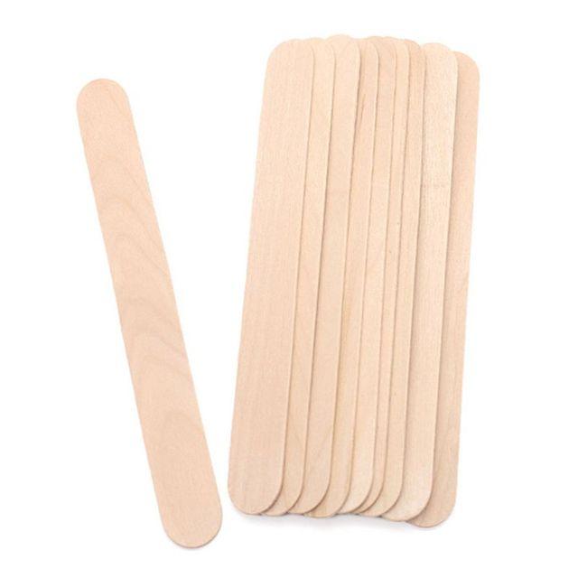 50 adet/kutu Ahşap Ağda Balmumu Spatula Tek Kullanımlık dil bastırıcı Dondurma Çubukları Vücut Saç Epilasyon Kaldırma Güzellik Araçları