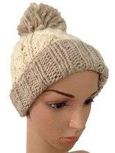 Мода Осень Зима Теплая Шерсть Шляпа 100% Ручной Работы Открытый Вязаная Шапочка Лыжная шапочка Шляпы