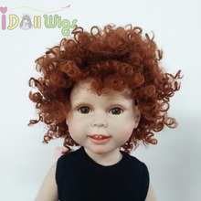 Heat Resistant Afro Tiny Curls Finished Wigs for 18'' Height American Girl Doll with 10-11inch Head wigs only taro miilk wigs for 18 american girl dolls reborn dolls with 10 11inch head heat resistant synthetic hair accessory