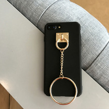 SZYHOME Phone Cases For iPhone 6 6s 7 Plus Case Fashion Large Ring Luxury Solid Color For iPhone 7 Plus Mobile Phone Cover Case